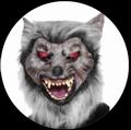 WOLF MASKE MIT ROTEN AUGEN - Masks - Horror
