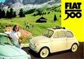 FIAT 500 BLECHSCHILD - BERGE - Merchandise - Blechschilder - Fiat Merchandise