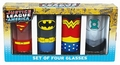 GL�SER 4ER PACK - JUSTICE LEAGUE - SUPERHELDEN
