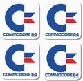 COMMODORE C64  RETRO-COASTER SET - 4 UNTERSETZER - Merchandise - Untersetzer