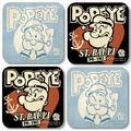 Popeye Coaster Set - 4 Untersetzer