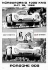 PORSCHE 908 N�RBURGRING 1000 KM 1968, VIC ELFORD, JO SIFFERT