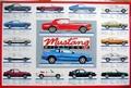 FORD MUSTANG TYPENTAFEL - MILESTONES - Plakate - Classic - US-Cars