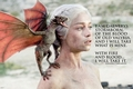 GAME OF THRONES POSTER DAENERYS FIRE & BLOOD - Filmplakate