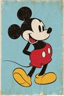 MICKEY MOUSE POSTER RETRO BLUE - Filmplakate