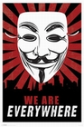 V FOR VENDETTA POSTER MASKE WE ARE EVERYWHERE - Filmplakate