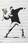 1 x BANKSY POSTER THROWING FLOWERS