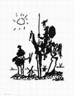 PABLO PICASSO - DON QUIXOTE KUNSTDRUCK - Kunstdrucke - b/w