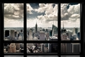 NEW YORK SKYLINE FENSTER  - POSTER