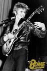 David Bowie Poster schwarz weiss