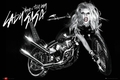 LADY GAGA POSTER ALBUM COVER MOTORBIKE - Musikposter
