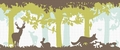 TAPETE - KEY TO FAIRYLAND - BORD�RE MAGIC FOREST GR�N