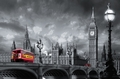FOTOTAPETE - RIESENPOSTER - LONDON - BUS ON WESTMINSTER BRIDGE - Interior - Fototapeten - Stadt