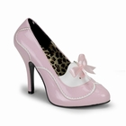 TEMPT-02 - ROSE PATENT PUMP WITH WHITE DETAIL