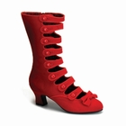WHIMSEY-115 - RED VELVET CALF BOOT WITH STRAPS