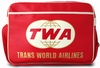 LOGOSHIRT - TRANS WORLD AIRLINE TWA TASCHE - ROT - FAKE LEATHER