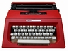 Original Olivetti Schreibmaschine mit Tasche